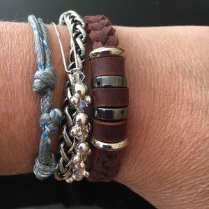 Leather Beaded Tribal Bracelet